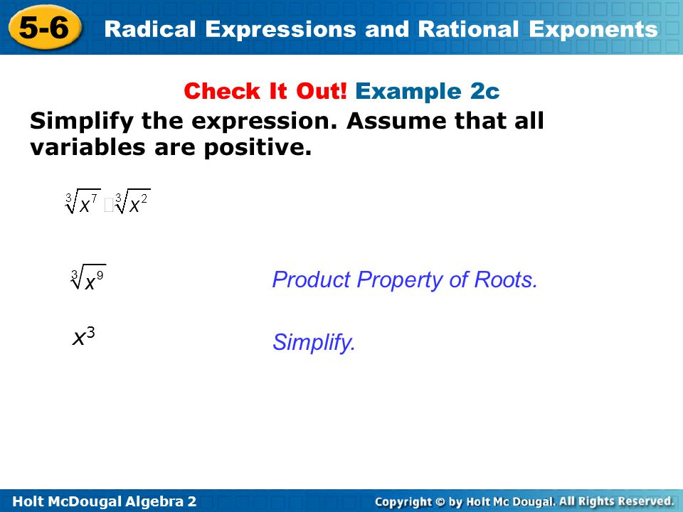 rational exponents and radical expressions