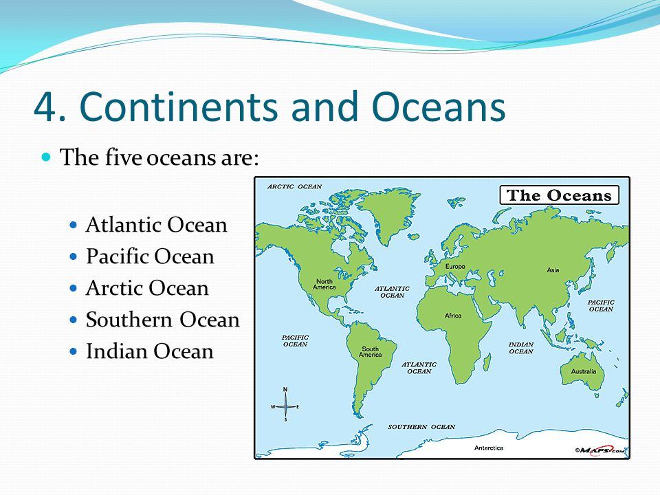 The Continents and Oceans of the World - ppt video online ...