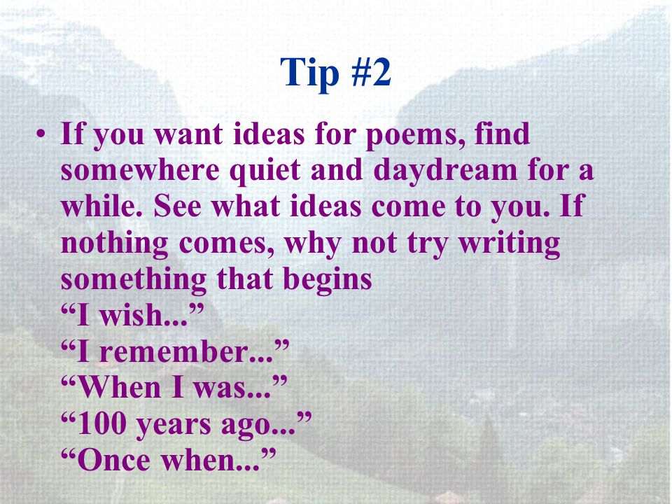 writing poems tips
