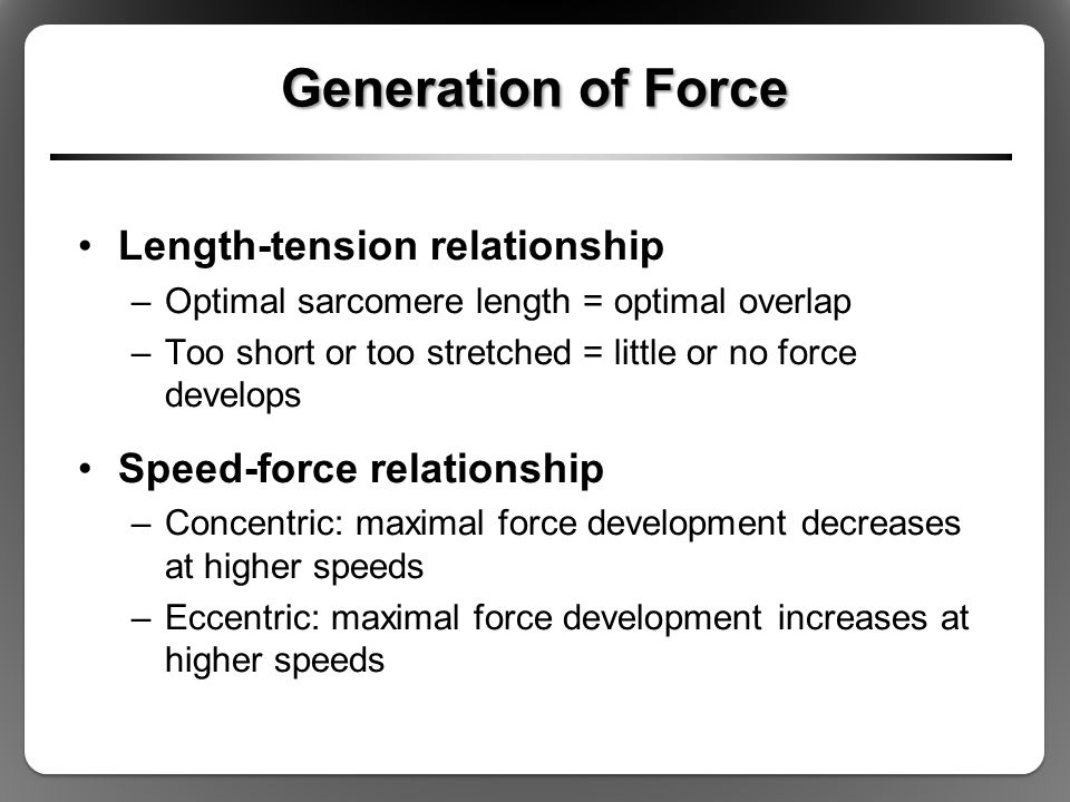 force and tension relationship