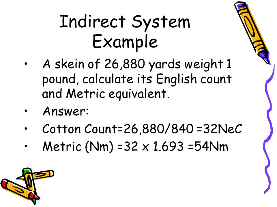 Indirect System Example