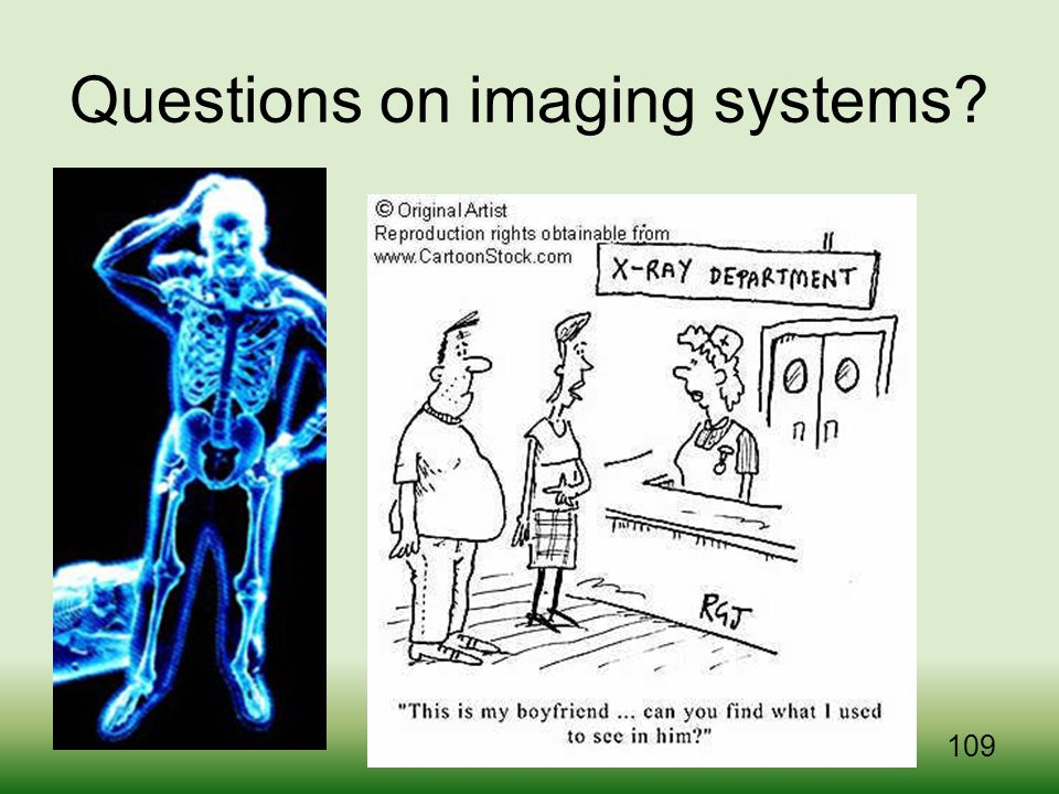 Questions on imaging systems