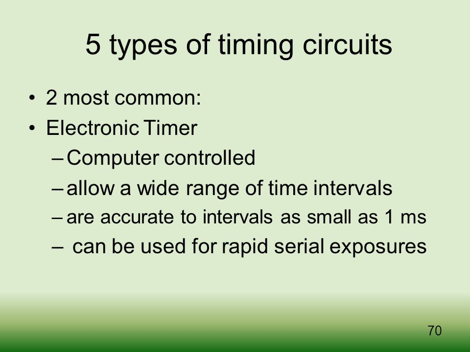 5 types of timing circuits