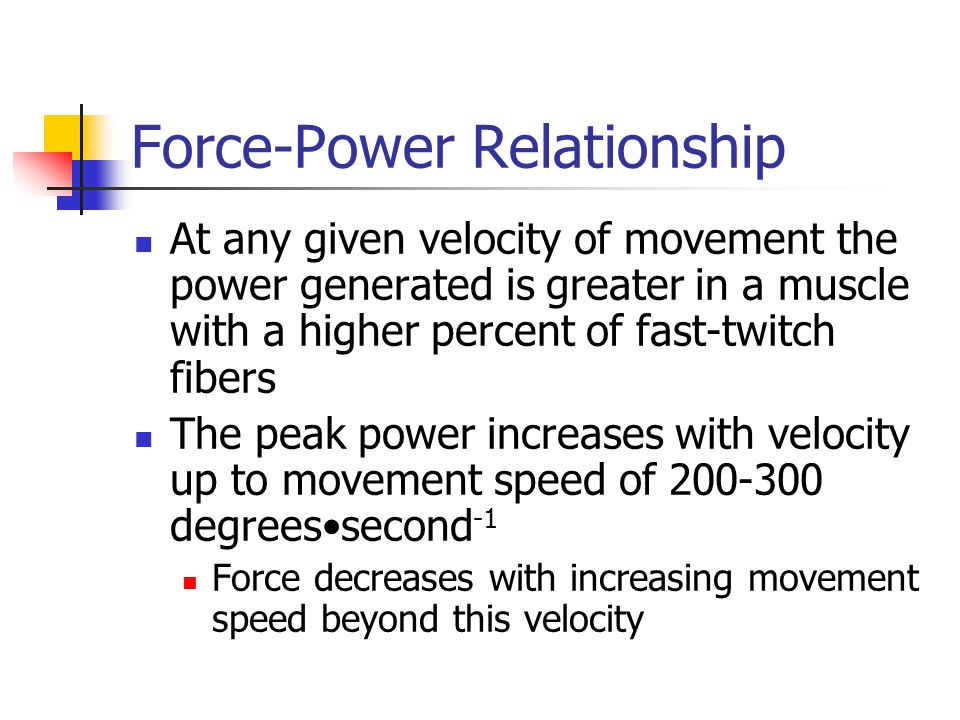 power and thrust relationship