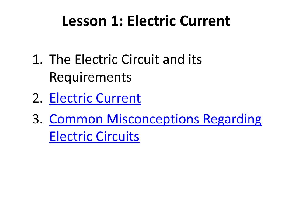 Current electricity Lesson 1: electric current - ppt download
