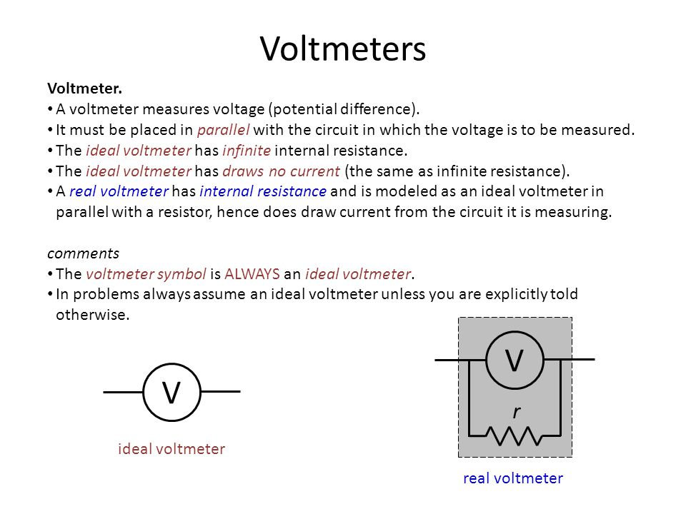 Voltmeter In Parallel : Chapter fundamentals of circuits ppt download