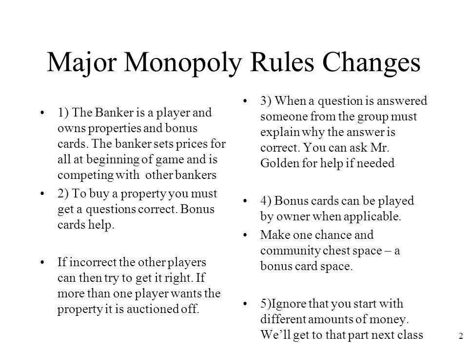 how to play monopoly rules