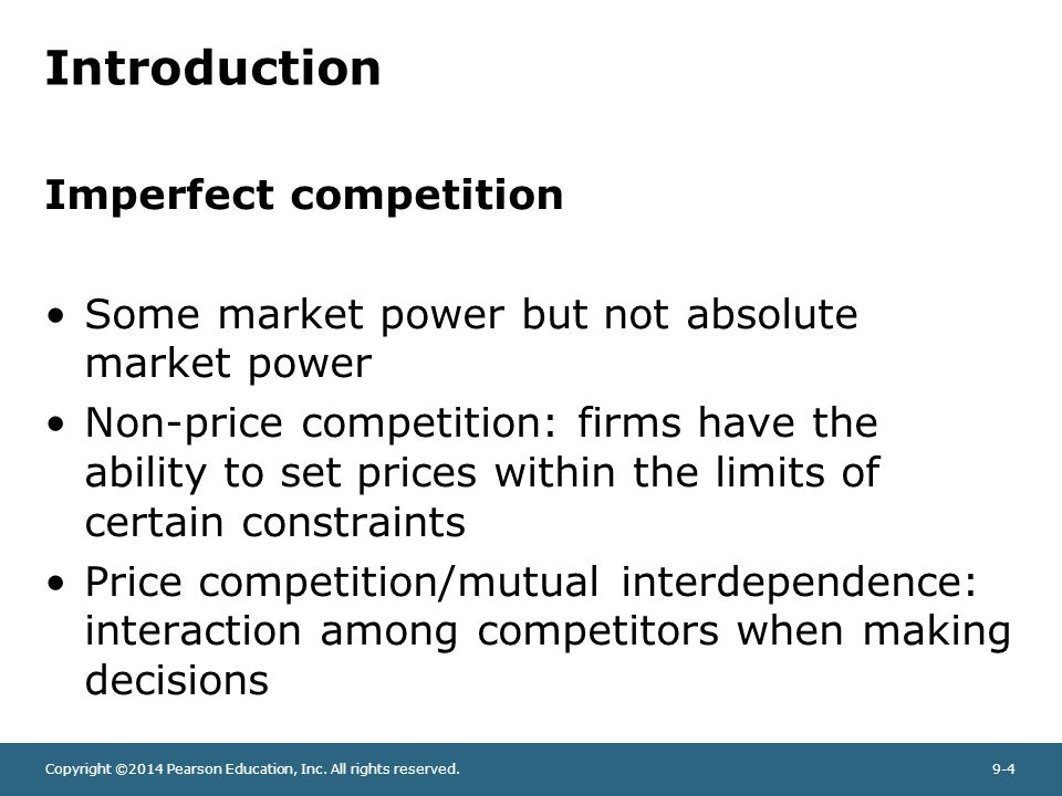 introduction to the perfect competition This lesson will outline some key factors that help determine if a perfect competition has been met examples will be given to help explain.