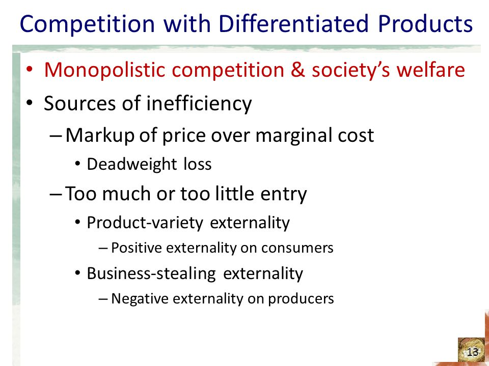 Competition with Differentiated Products
