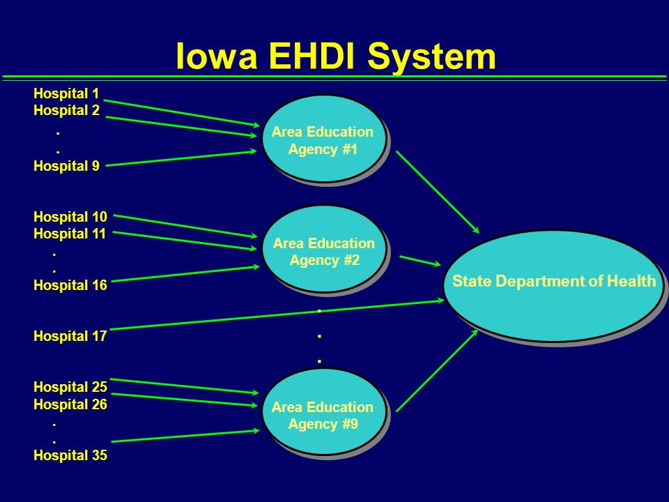 Iowa EHDI System . . . . . State Department of Health Hospital 1