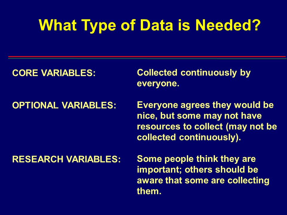 What Type of Data is Needed