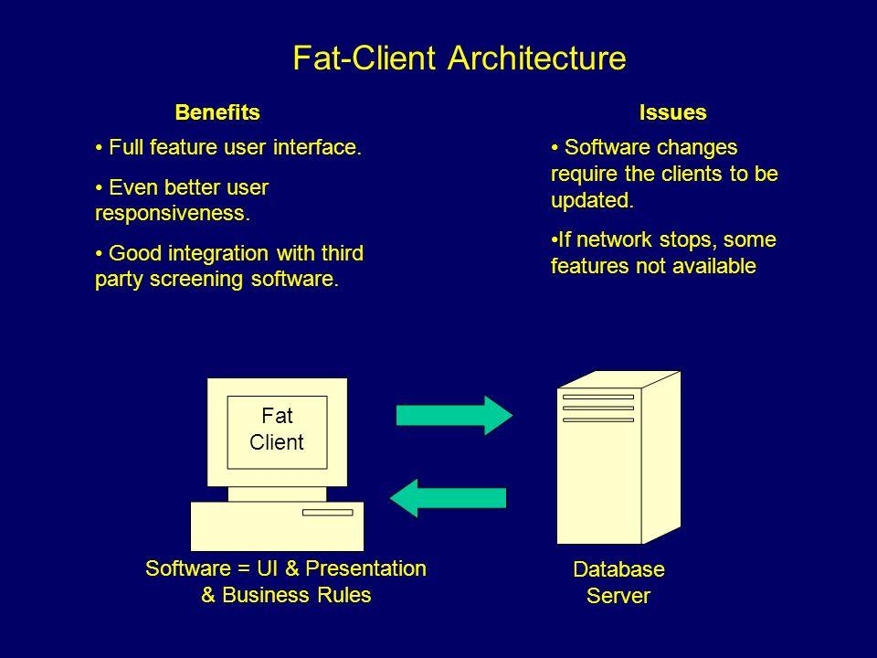 Fat-Client Architecture