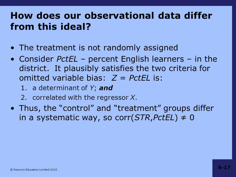 How does our observational data differ from this ideal
