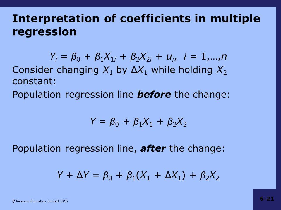 Interpretation of coefficients in multiple regression