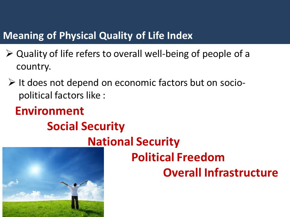 physical quality of life index pdf