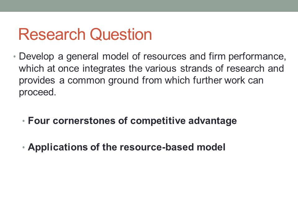 general motors resource based view The resource-based view (rbv) is a model that sees resources as key to superior firm performance if a resource exhibits vrio attributes, the resource enables the firm to gain and sustain.