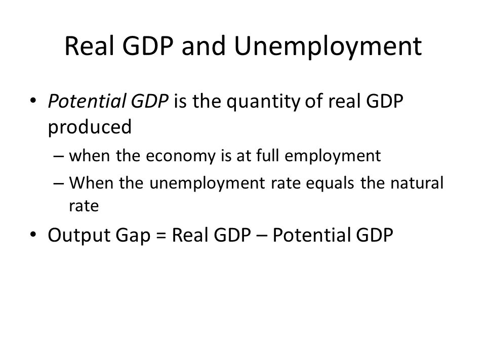 Real GDP and Unemployment