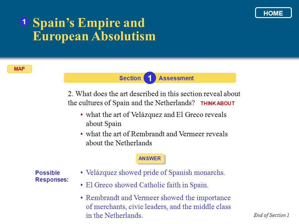 Spain's Empire and European Absolutism 1 1