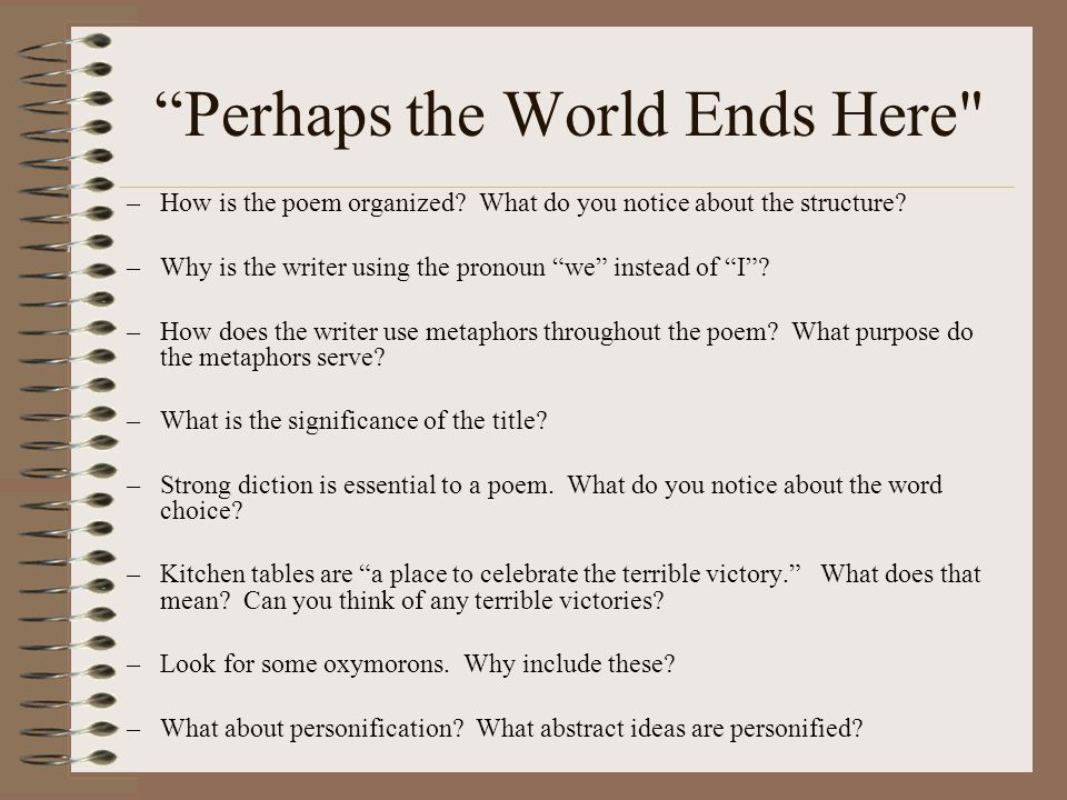 'Perhaps the World Ends Here' a poem by Joy Harjo