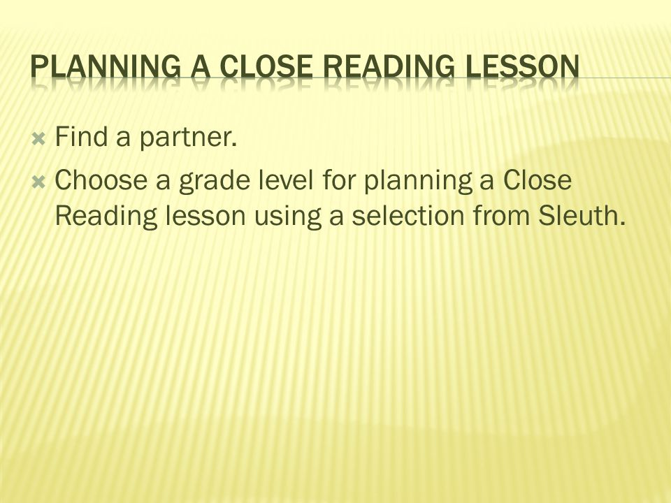 Baldwin county february 7 ppt download for Close reading planning template