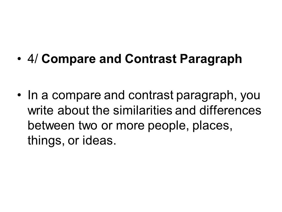 compare contrast essays between two people An essay or paper on two bosses' comparison and contrast comparison and contrast two bosses have you ever known two people who are much alike, yet.