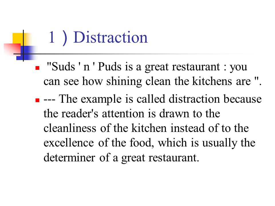 1)Distraction Suds n Puds is a great restaurant : you can see how shining clean the kitchens are .