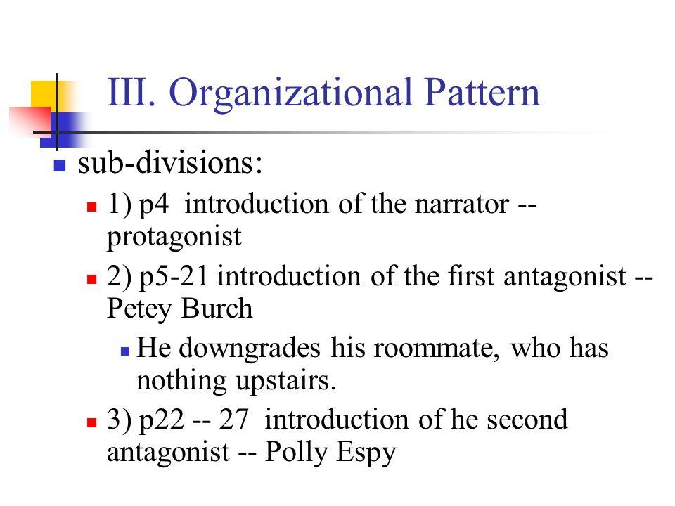 III. Organizational Pattern