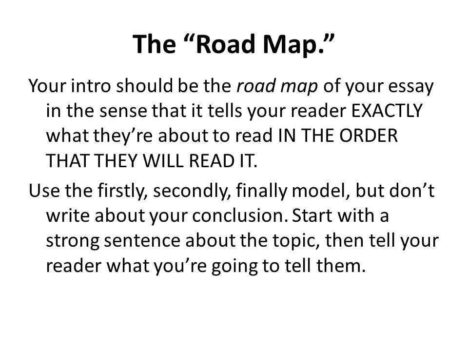 "the most important part of any essay ppt video online  4 the ""road"