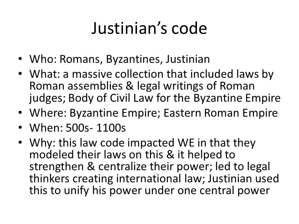 Section 1 Byzantine Empire ppt video online download – Justinian Code Worksheet