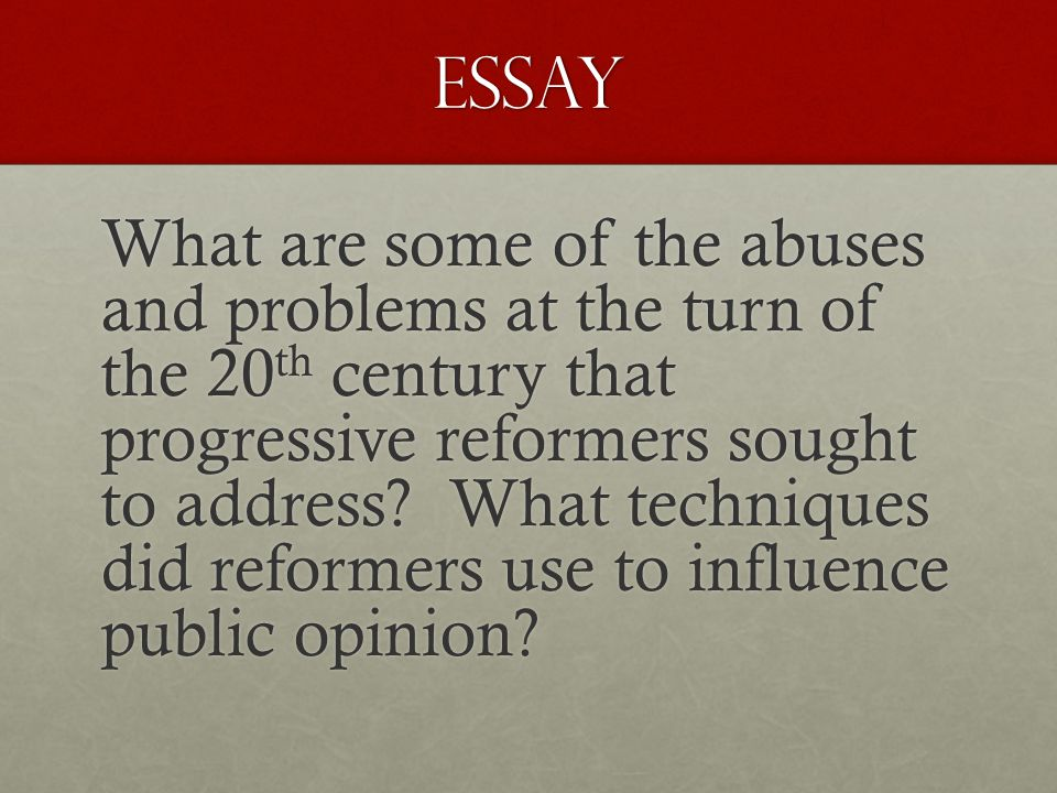 chapter test the progressive era ppt video online  45 essay