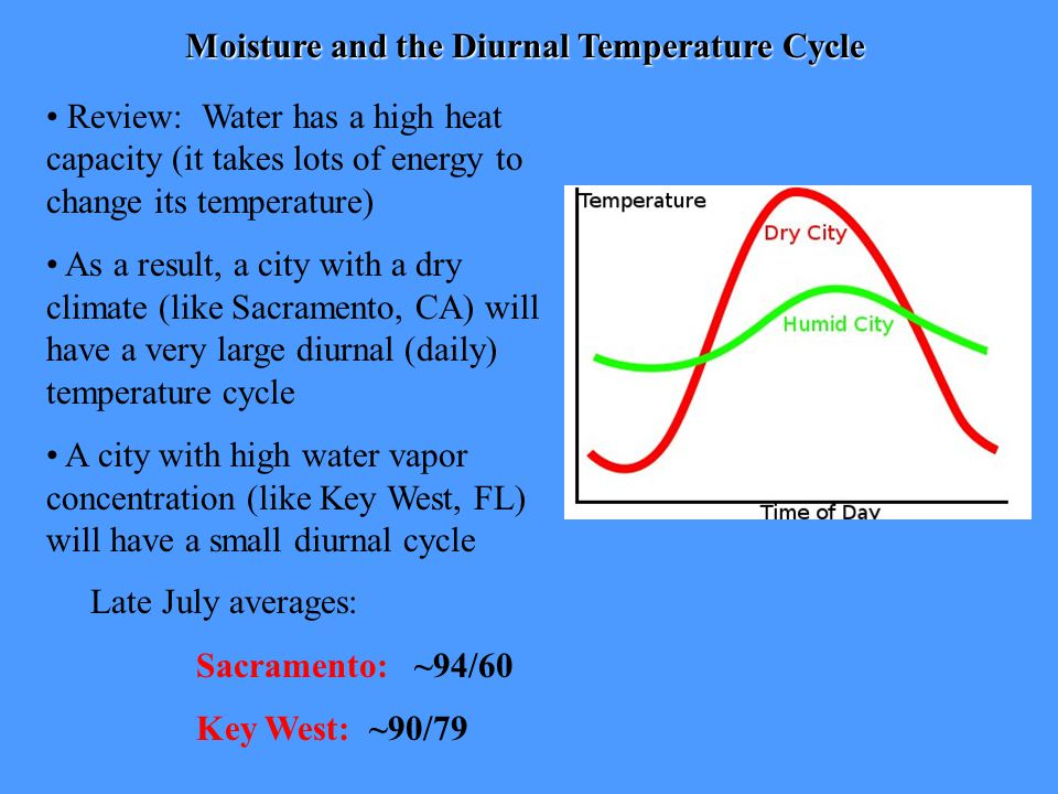 Moisture and the Diurnal Temperature Cycle