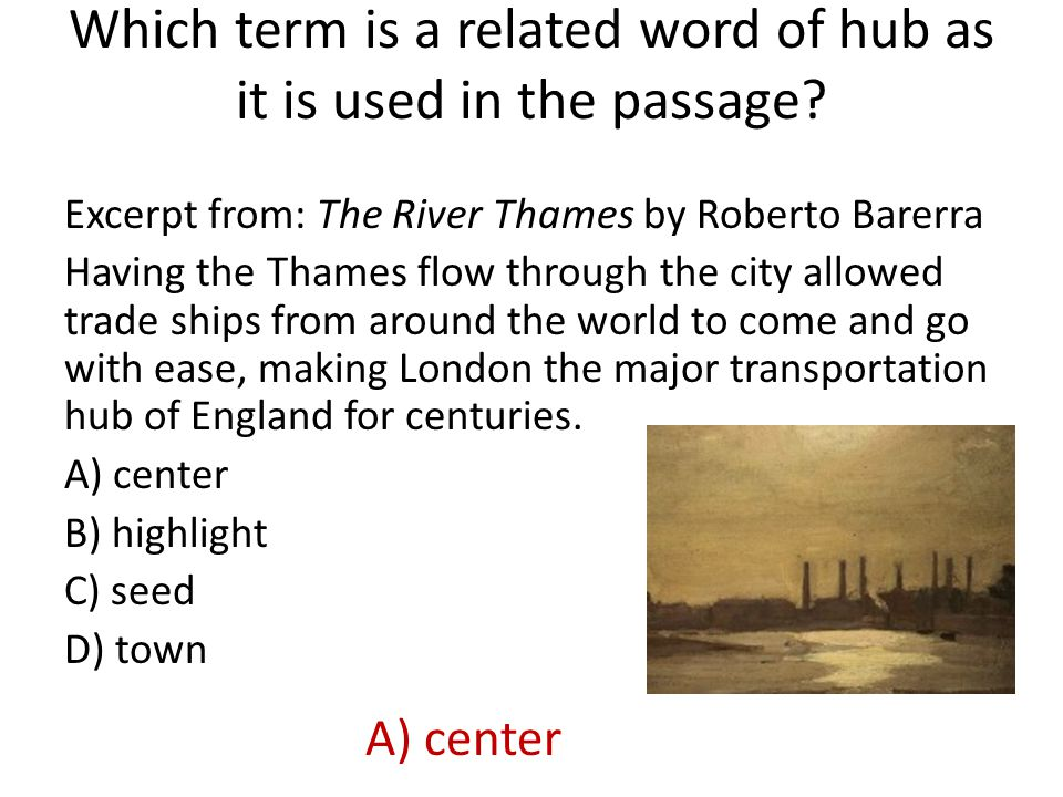 Which term is a related word of hub as it is used in the passage