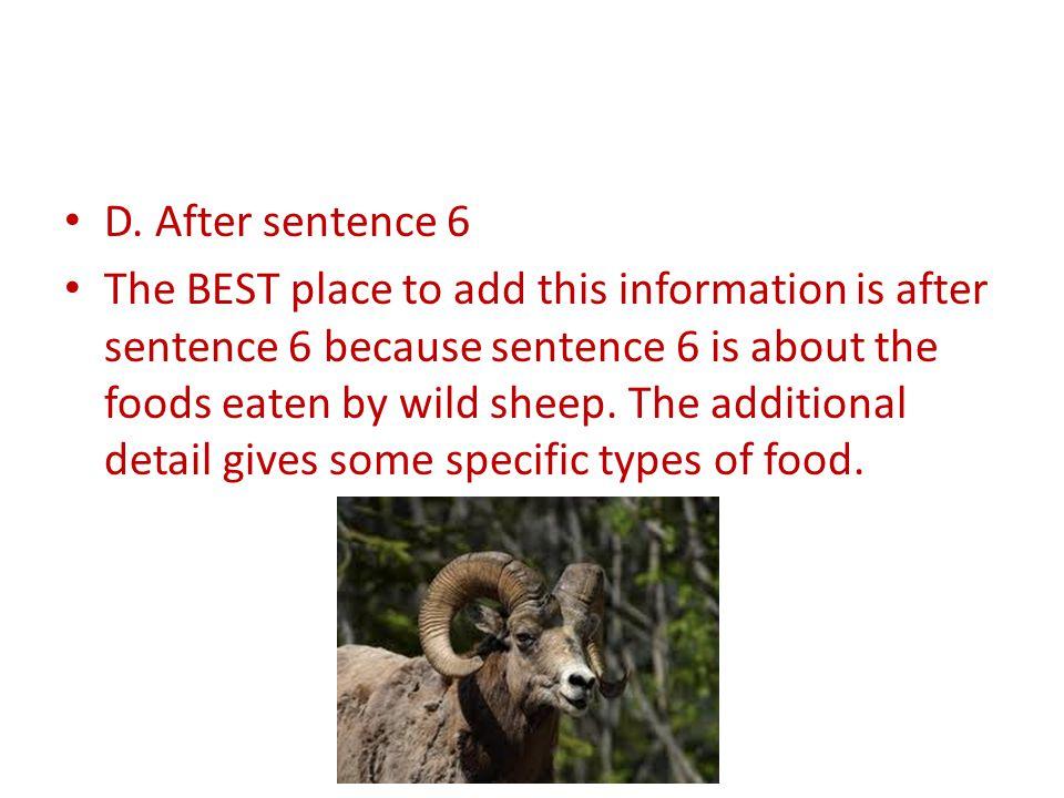 D. After sentence 6