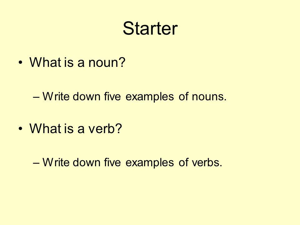 Verbs Starter Activity Ppt Video Online Download