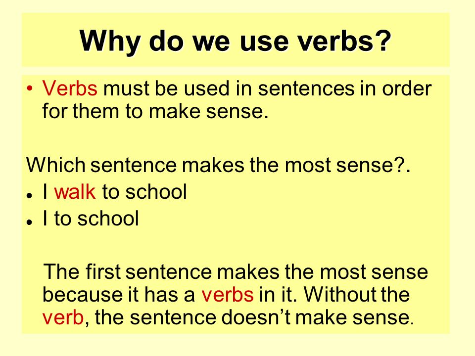 Verbs starter activity ppt video online download for Divan used in a sentence