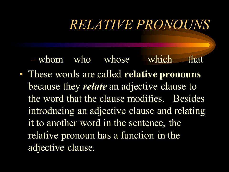 Relative Pronouns Quiz EFLnet