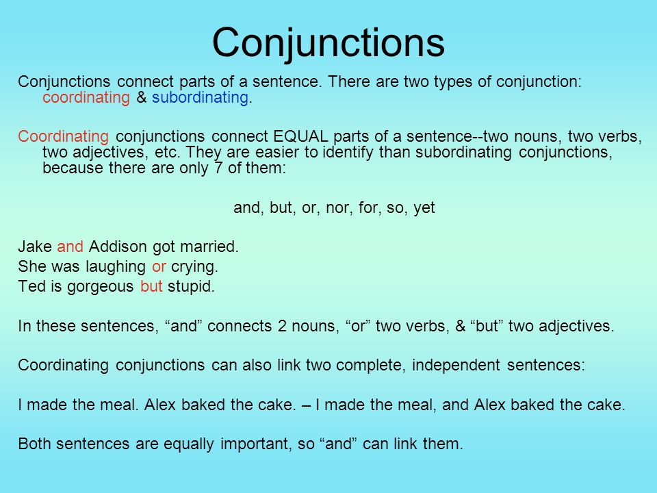 sentence and conjunctions correlative conjunctions Correlative conjunctions conjunctions also belong to the parts of speech, along with nouns, verbs, adjective, adverbs, etc they play crucial role in connecting sentence and phrases, clauses and words.