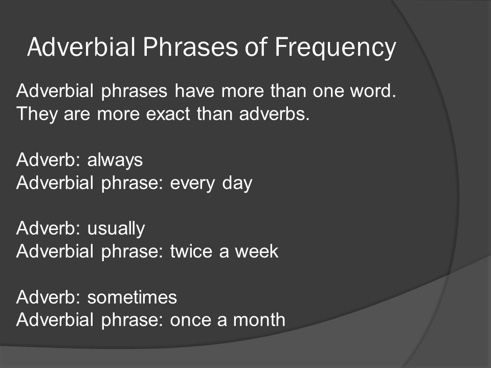 Adverbial Phrases of Frequency