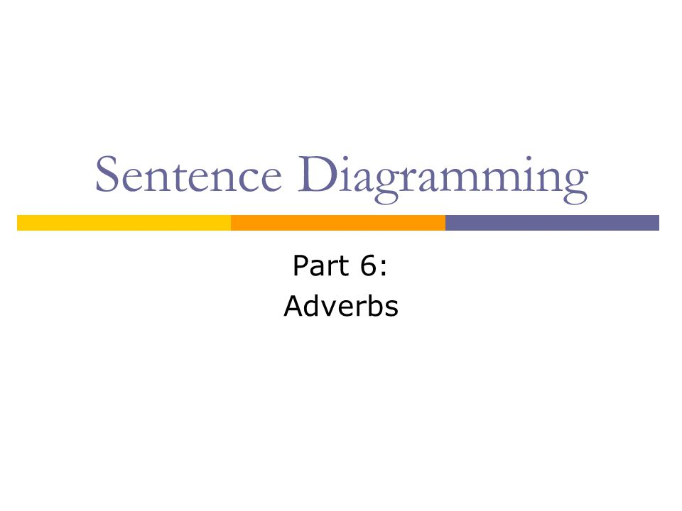 Sentence diagramming part 6 adverbs ppt video online download 1 sentence diagramming part 6 adverbs ccuart Images