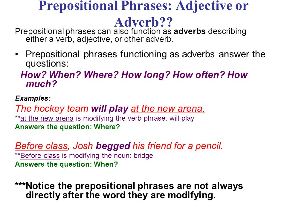 More About Prepositions - ppt download