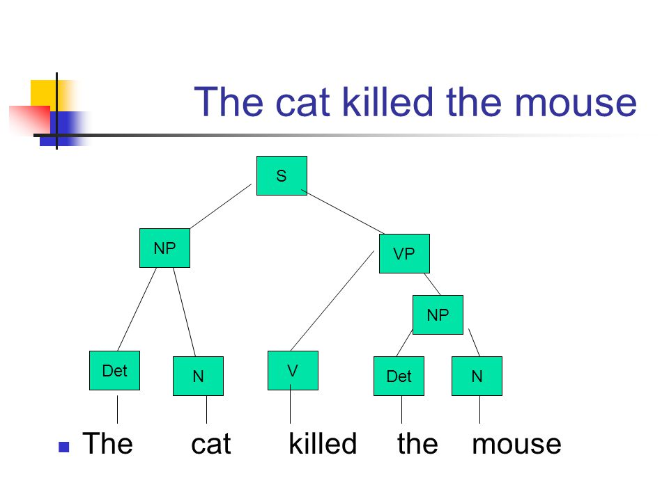 The cat killed the mouse