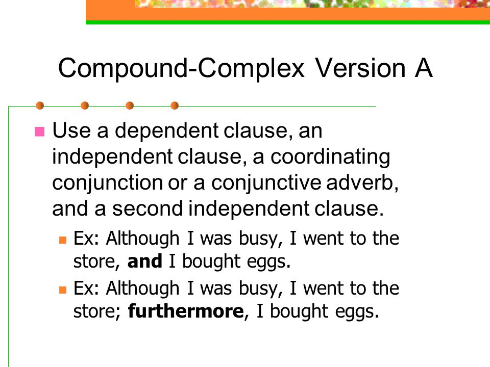 Compound-Complex Version A