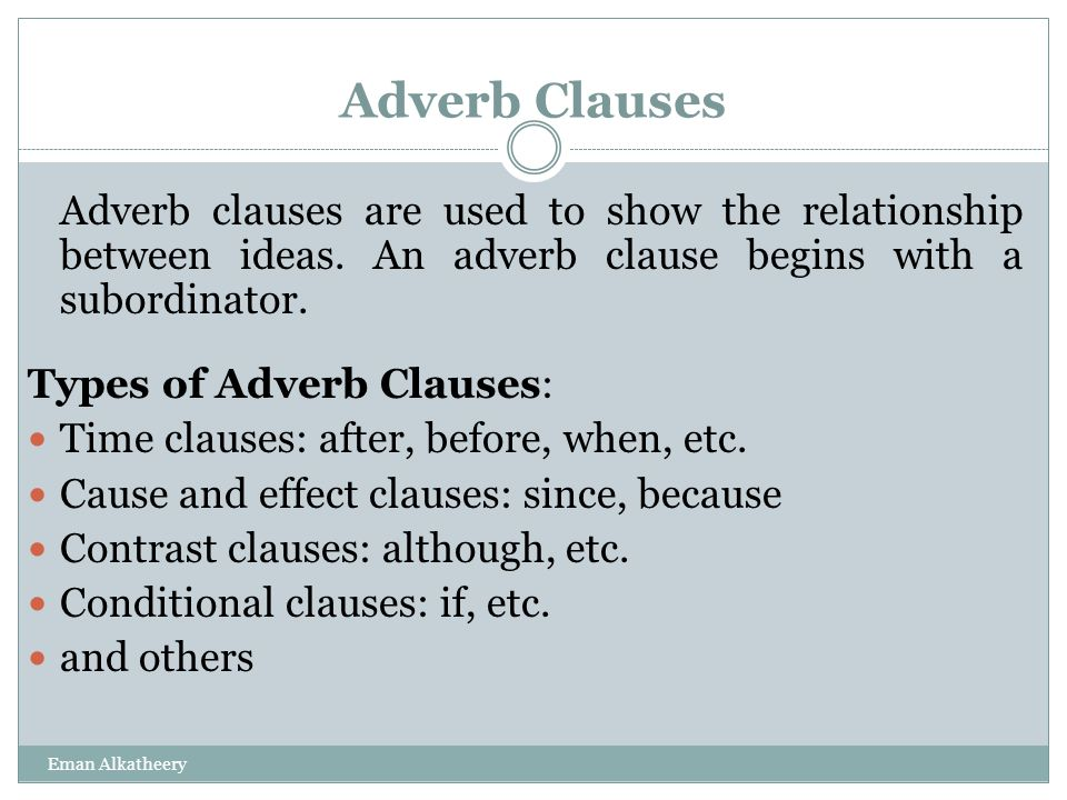 adverb clauses time cause and result ppt video online