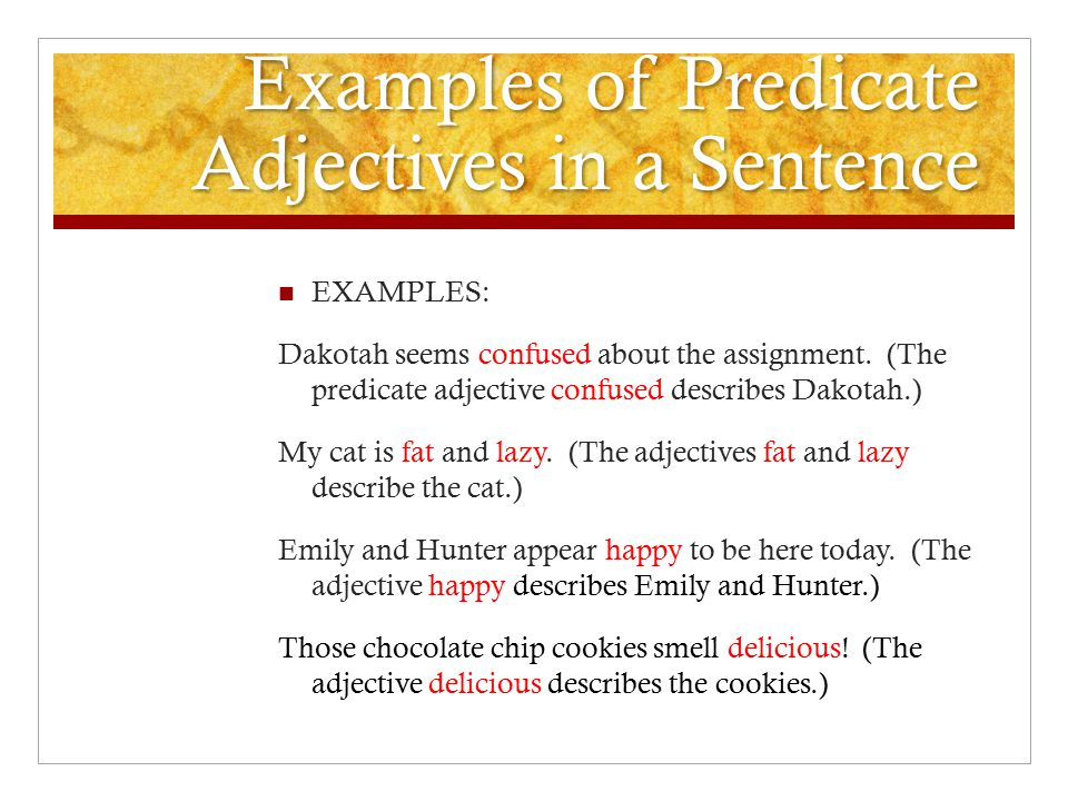Adjectives and Adverbs ppt download – Predicate Adjective Worksheet