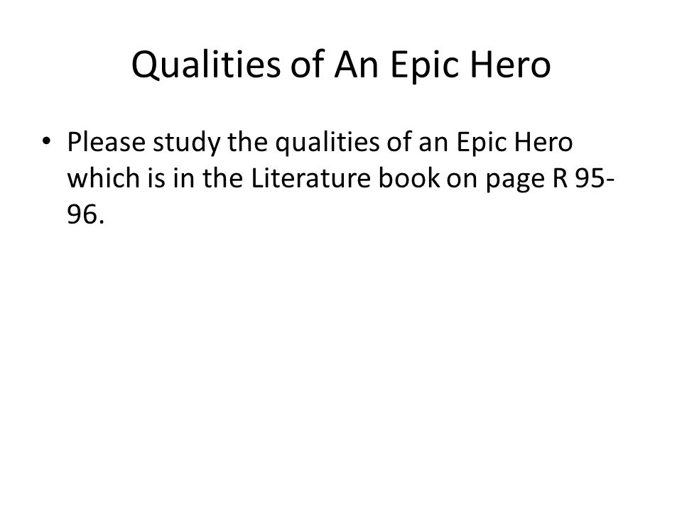 The journey of an epic hero in literature