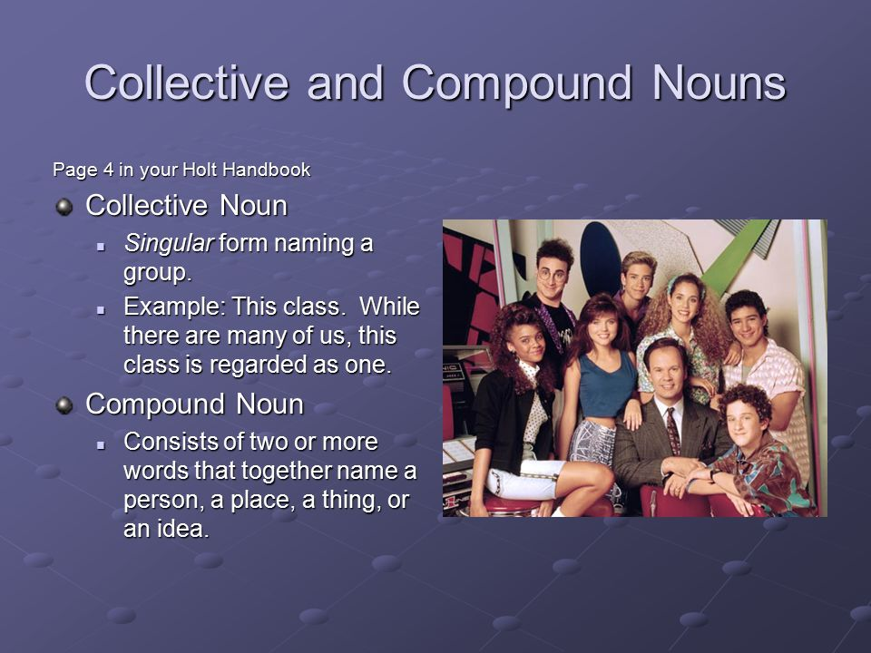 Collective and Compound Nouns