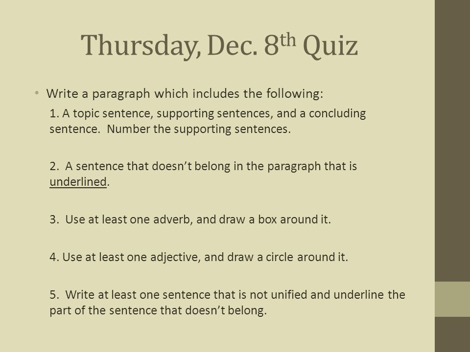 underline the topic sentence and bold the concluding sentence in the paragraph In this worksheet on informational topic sentences, students will read through three different topics and write a paragraph students will strengthen their writing skills and learn how to properly write and include topic sentences this worksheet is ideal for grades 4, 5, and 6.