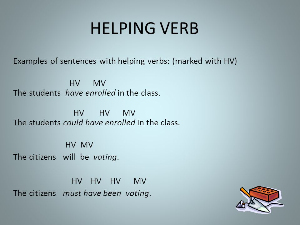 HELPING VERB