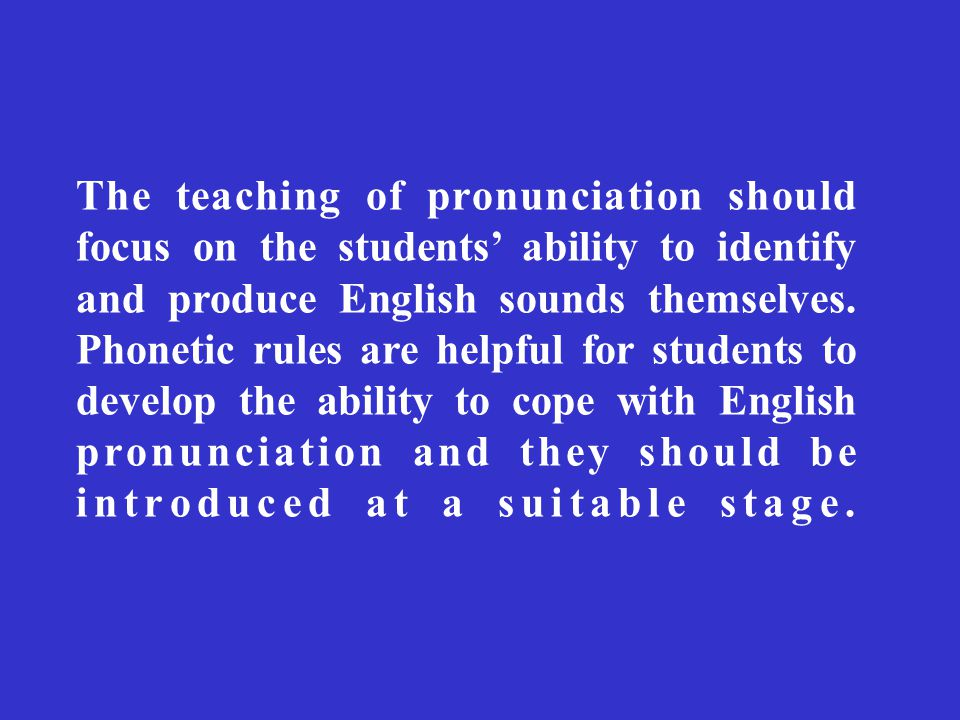 essay on the teaching of english pronunciation