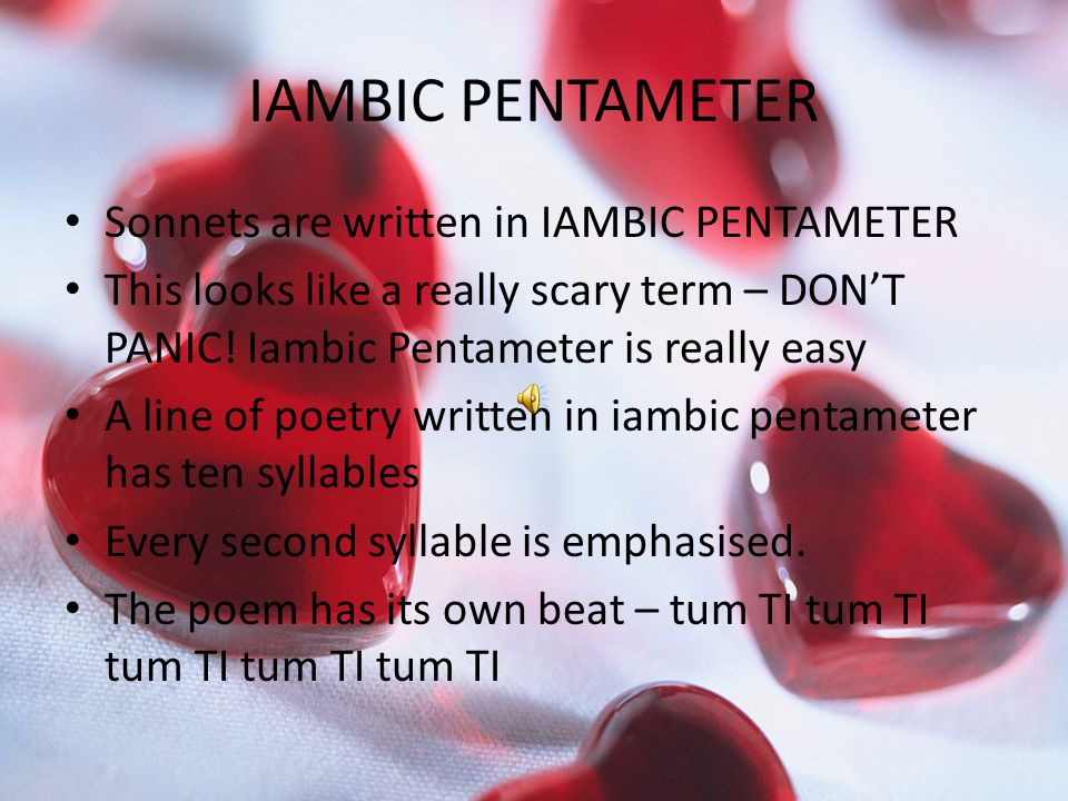 Help writing a sonnet in iambic pentameter